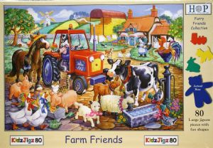KidzJigz Farm Friends  80 Piece Jigsaw Puzzle